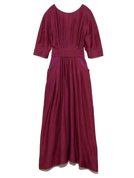 腰部羅紋綁帶連身裙