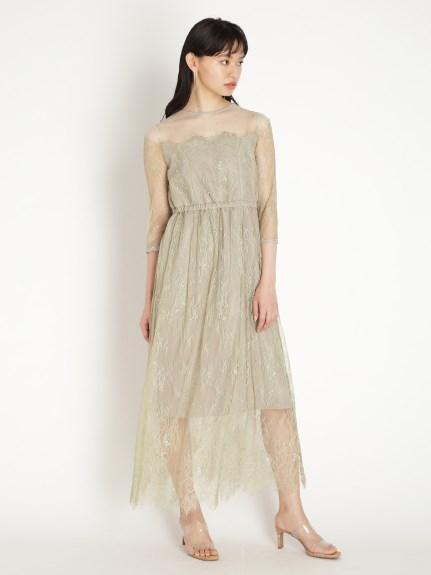 刺繡蕾絲長洋裝