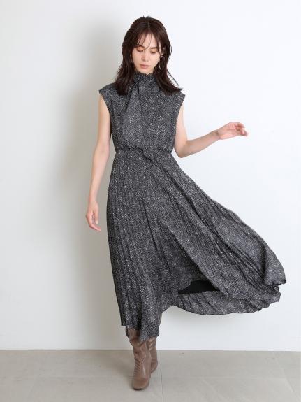 經典印花領結連身裙