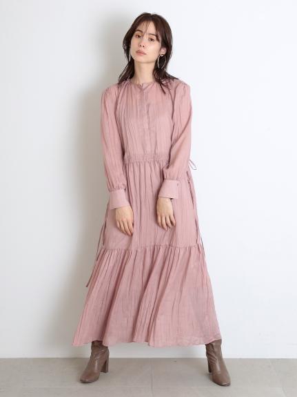透膚水洗棉襯衫連身裙
