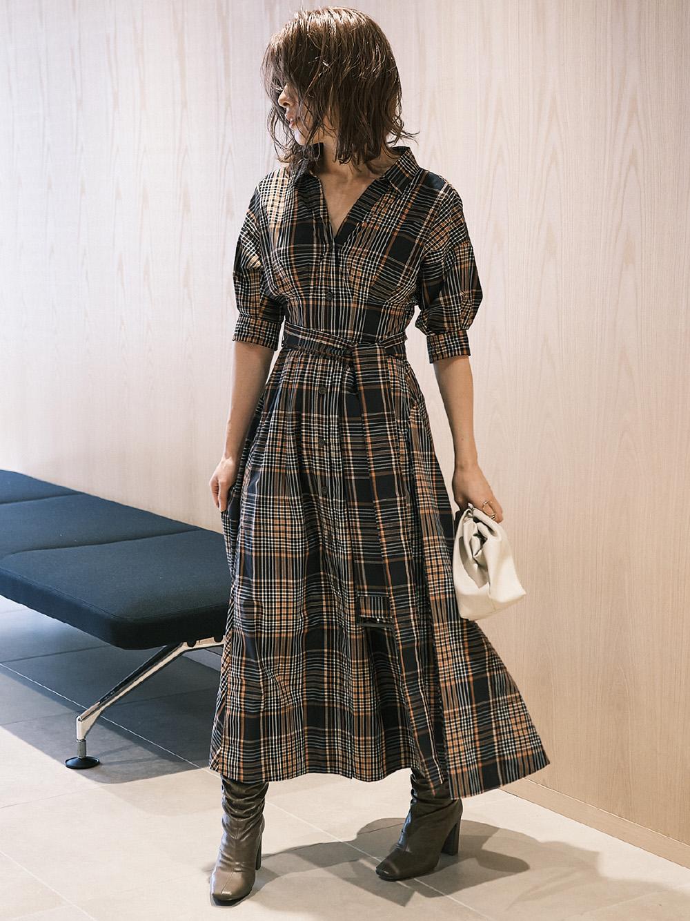 純棉襯衫連身裙