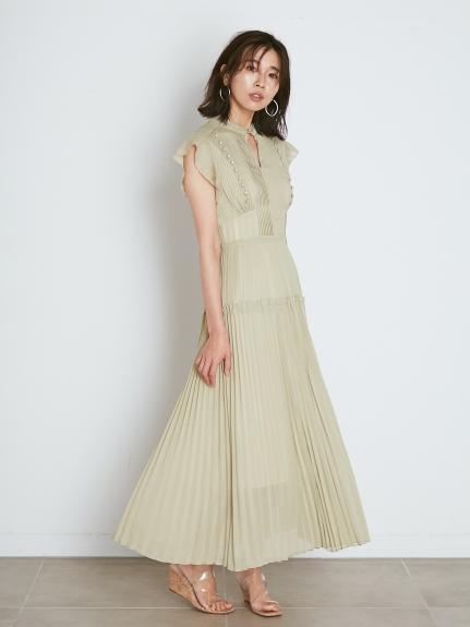 細褶長版連身裙