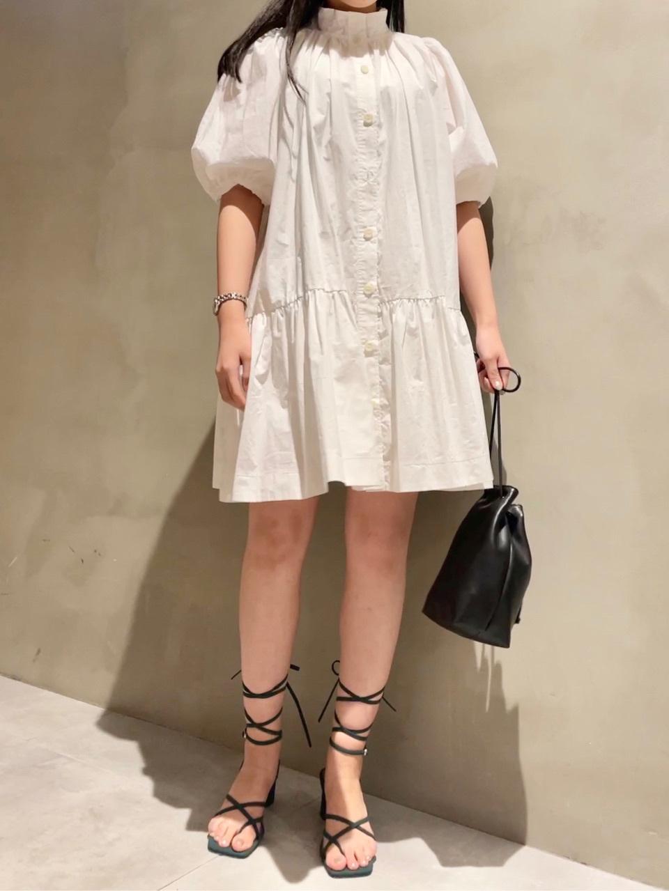ORGANICS立領襯衫式連身裙