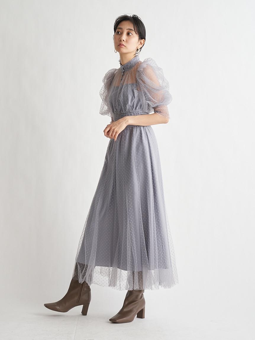 點點薄紗連身裙