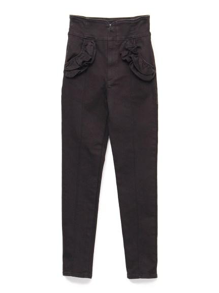 花邊口袋造型丹寧褲