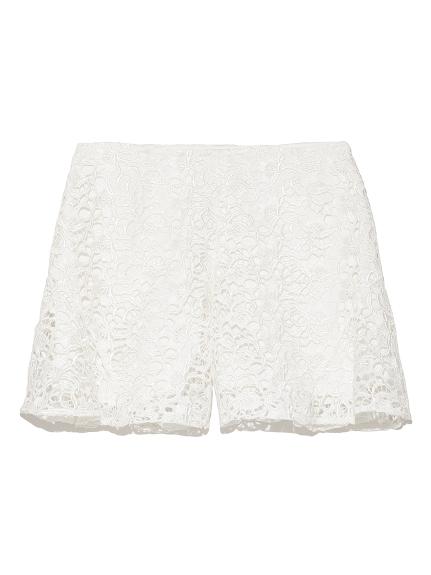 蕾絲荷葉剪裁短褲