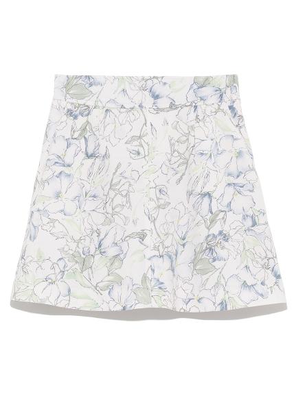 水彩花卉造型褲裙