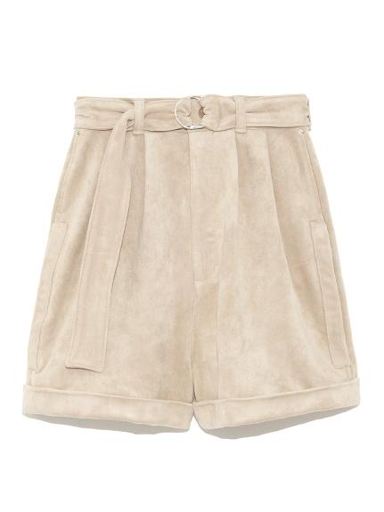 皮質腰帶造型短褲