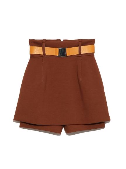 附腰帶造型剪裁短褲