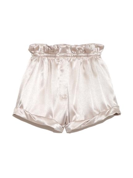 緞面打褶短褲