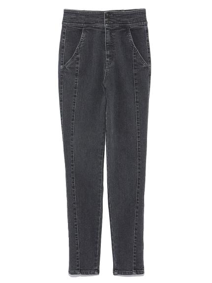 水洗風窄管褲