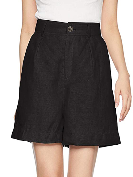 綿麻休閒短褲