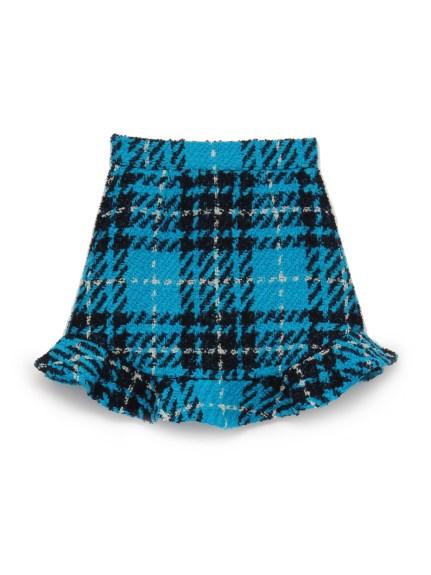 格紋荷葉短裙