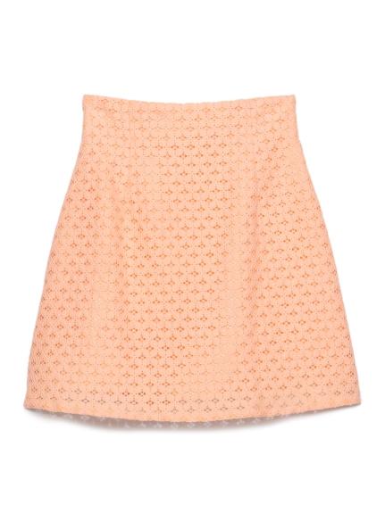蕾絲方形短裙