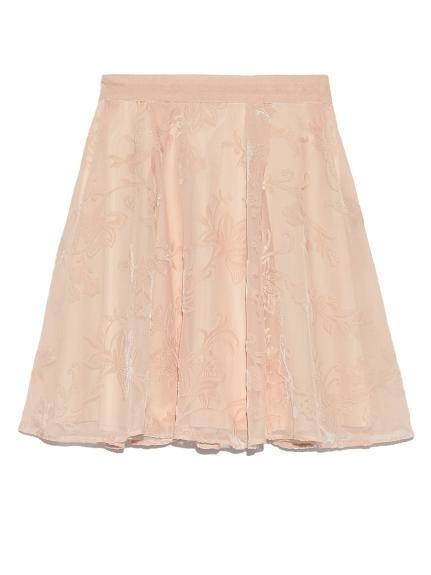 天鵝絨花紋造型短裙