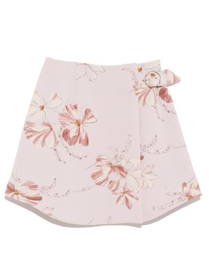 花朵繪圖短裙