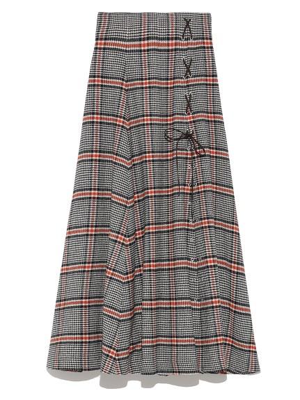 復古綁帶開衩長裙