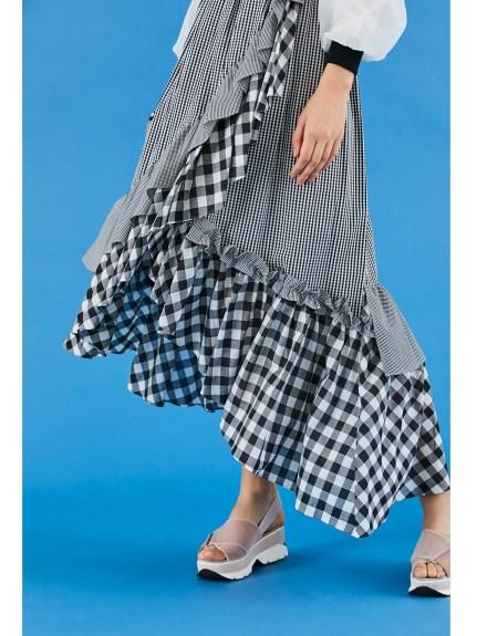 不規則層次感長裙