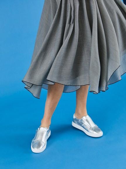 氣質剪裁不規則長裙