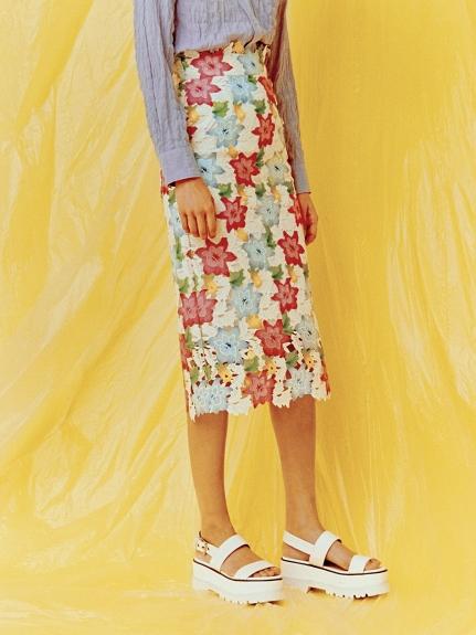 花朵刺繡半身裙
