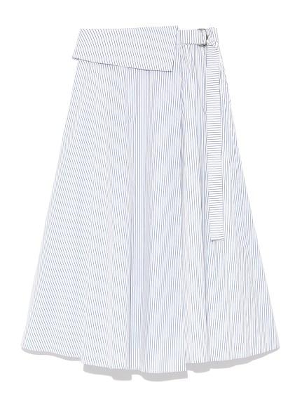 百摺設計感繫帶中長裙
