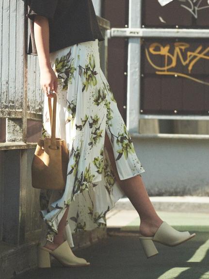 花卉優雅剪裁長裙