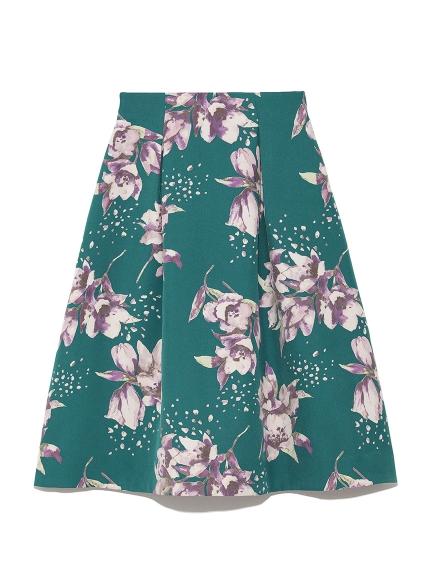 優雅花卉及膝裙