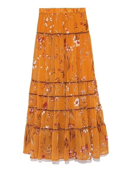 絲絨織帶蛋糕長裙