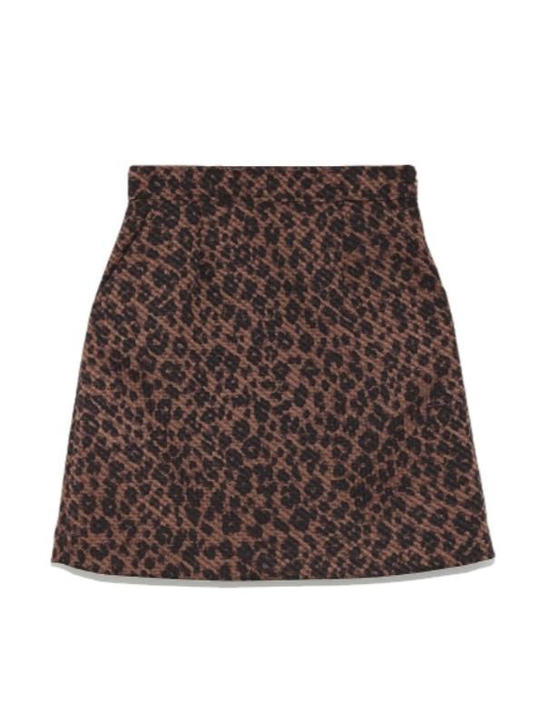豹紋迷你短裙