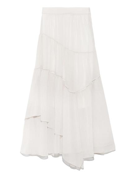 不對稱分層長裙