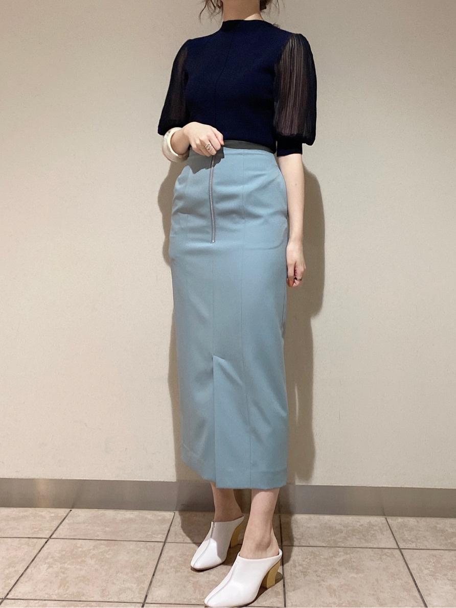 簡約拉鍊造型窄裙