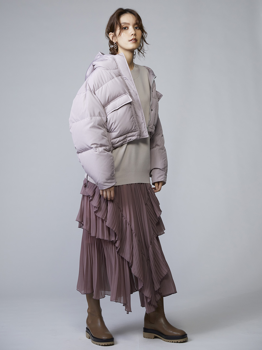 雪紡多層蛋糕百褶裙