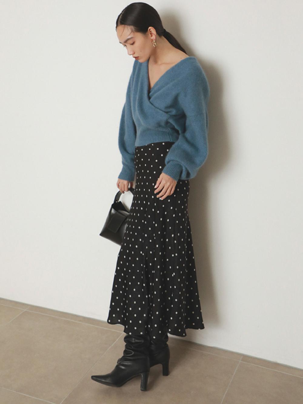 印花傘襬窄裙