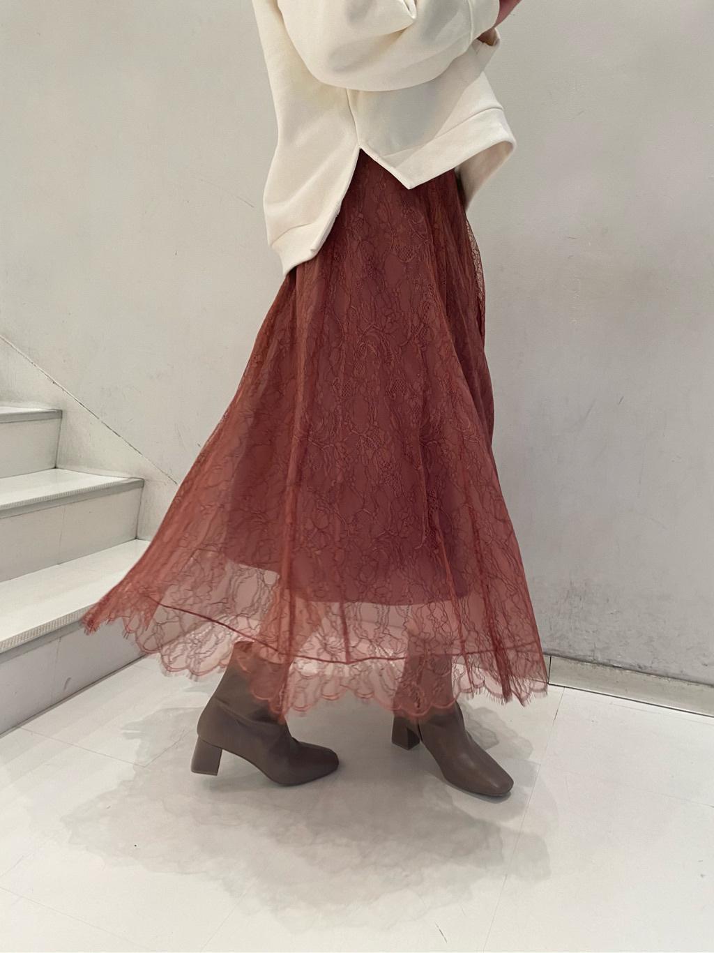 蕾絲傘襬裙