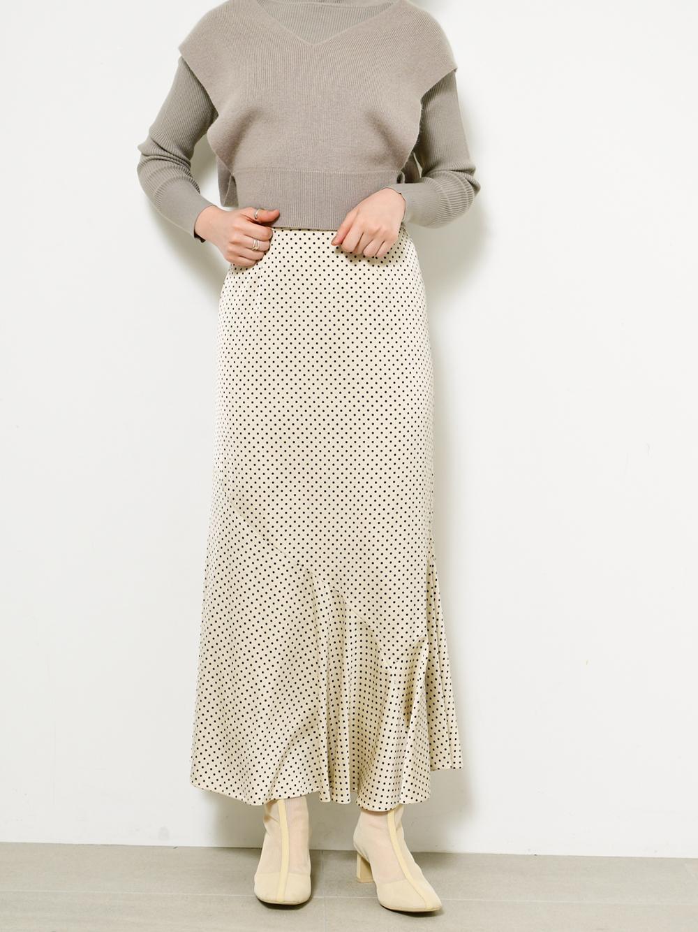 點點緹花傘襬窄裙