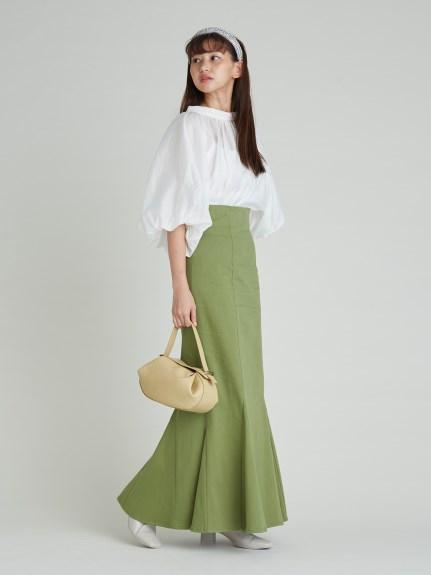 高腰魚尾長裙