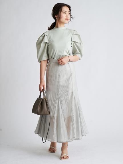 透膚傘襬長裙