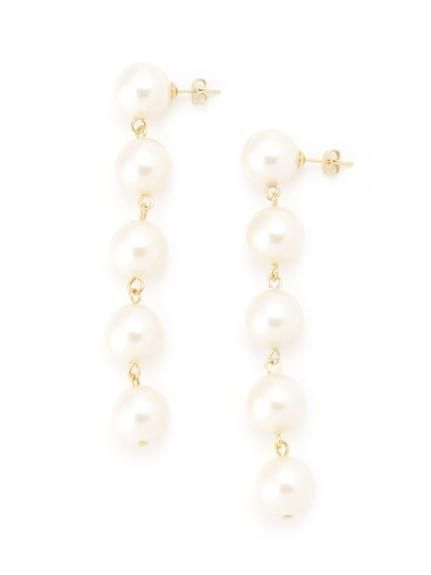 垂墜珍珠造型耳環