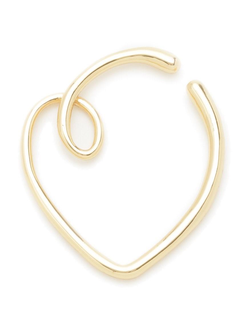 線條愛心耳骨環