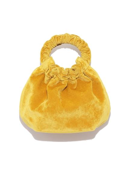 絨布圓形手提包