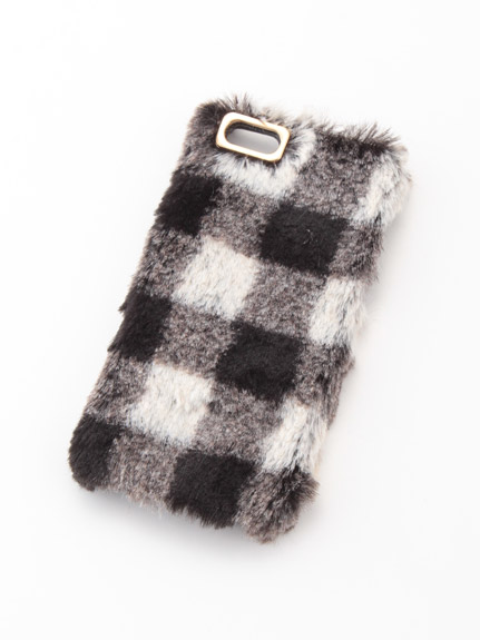 毛茸茸格紋 IPhone5/5S手機殼
