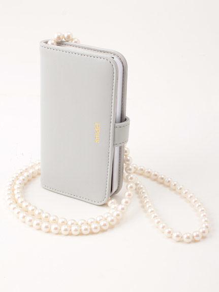 珍珠串鍊iPhone5/5S手機收納殼