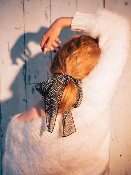 氣質絹紗領結