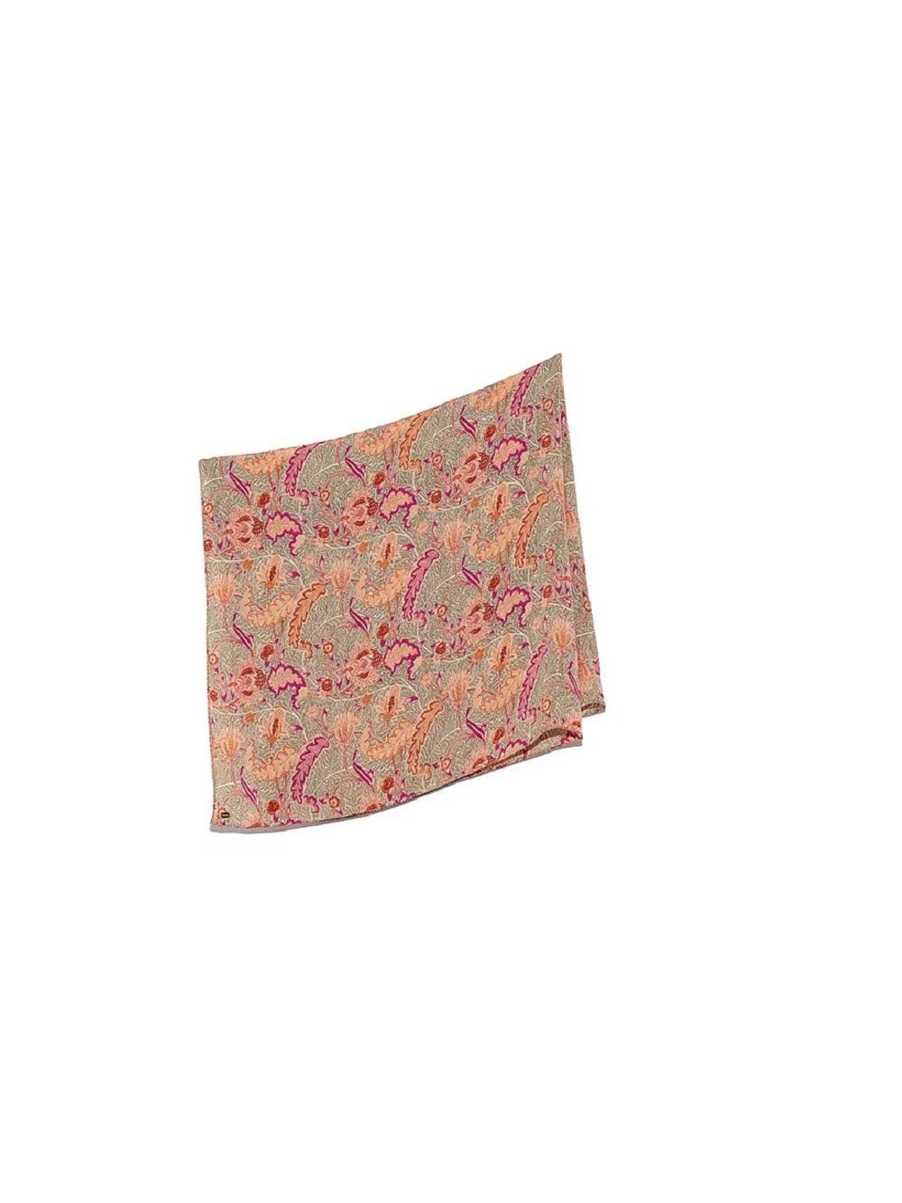 復古印花絲巾