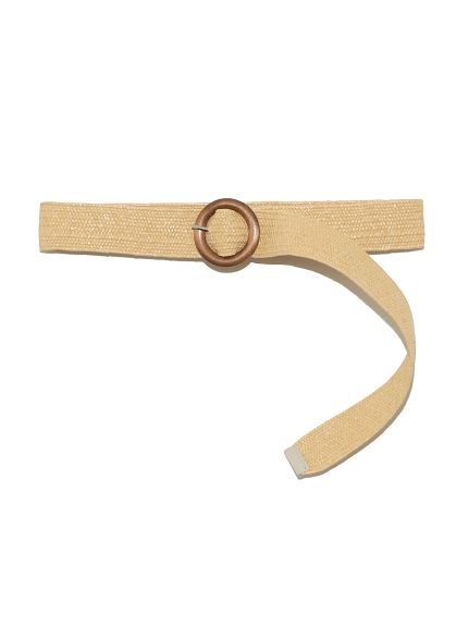 編織木扣腰帶