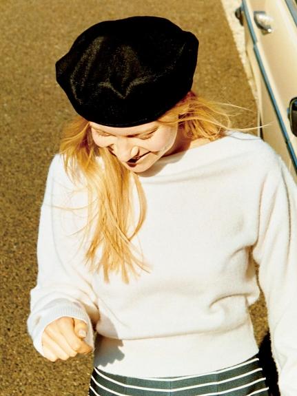 純色造型貝蕾帽