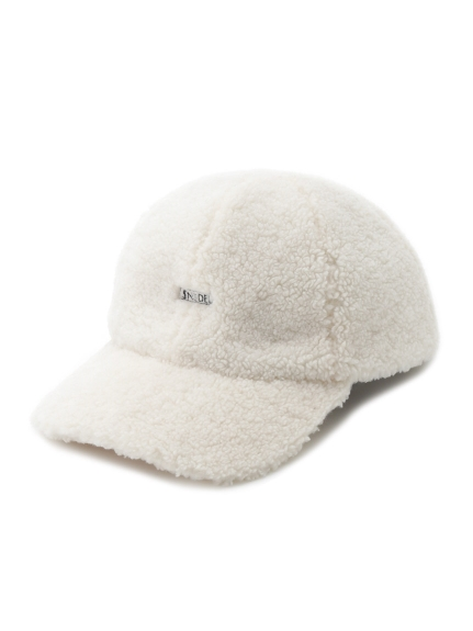 羊羔絨LOGO鴨舌帽