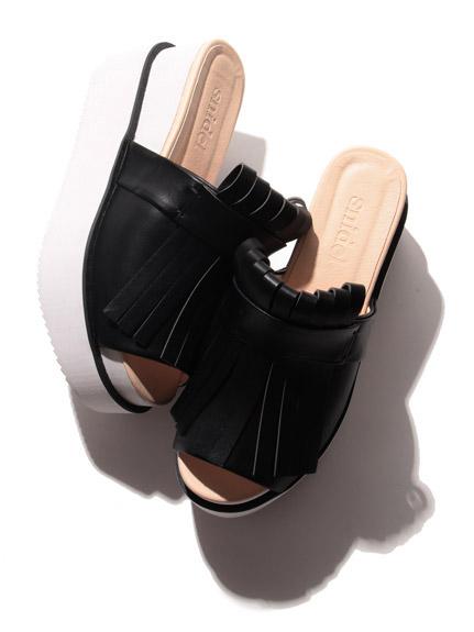 流蘇厚底涼鞋