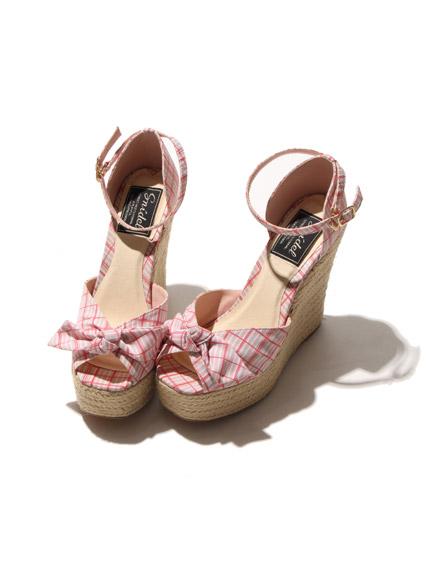 草邊蝴蝶鞋厚底涼鞋