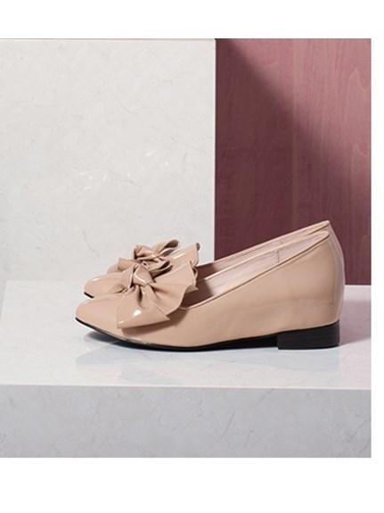 優雅蝴蝶結平底鞋